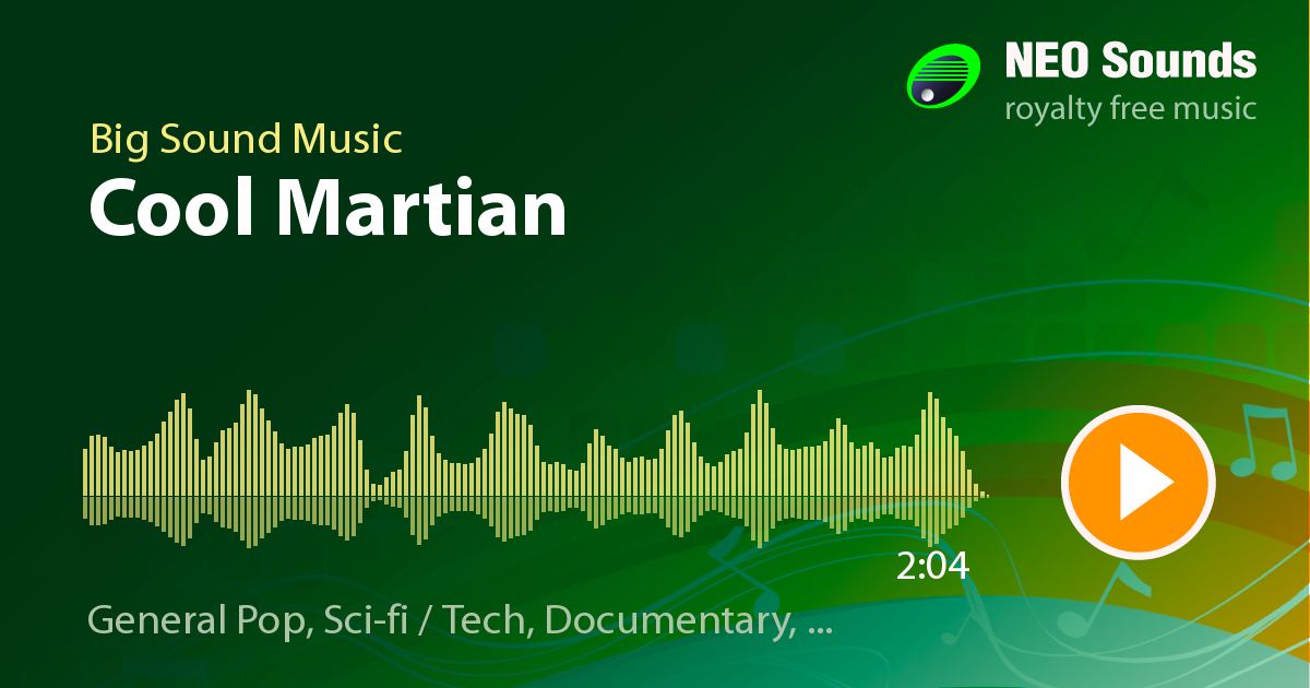 Cool Martian by Big Sound Music at NeoSounds